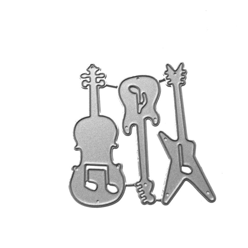 Guitar Metal Cutting Dies Stencil DIY Scrapbooking Album Stamp Paper Card Embossing Craft Decor Cutting Dies  - AliExpress