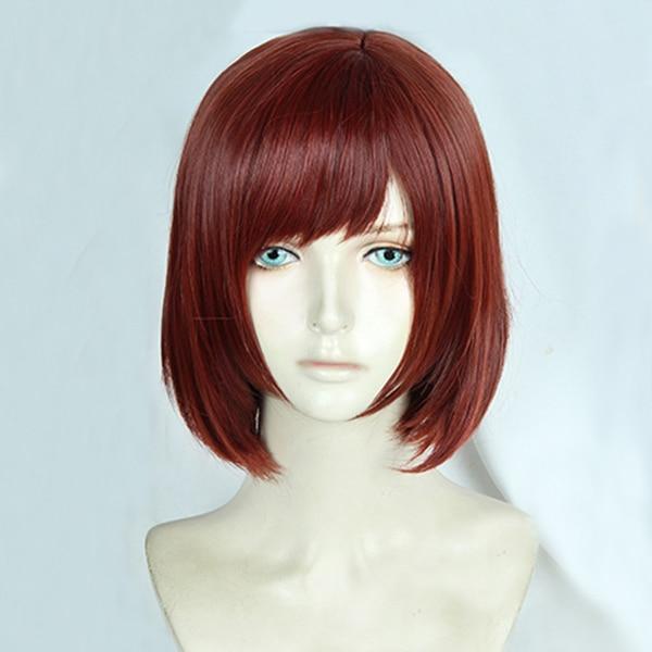 Kingdom Hearts III Kairi Short Reddish Brown Heat Resistant Synthetic Hair Cosplay Costume Wig + Free Wig Cap