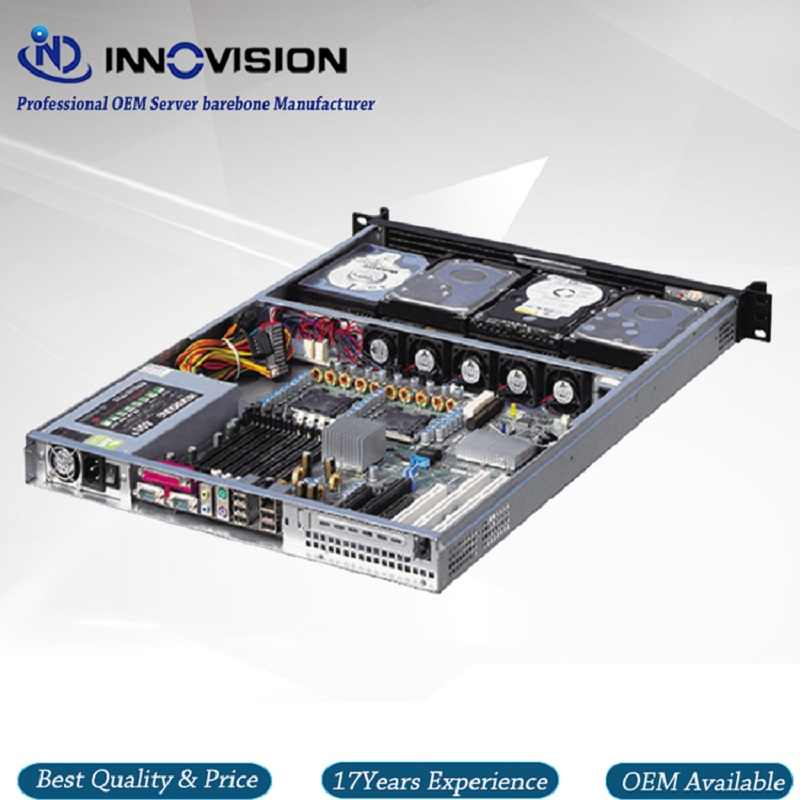 Hotsale 1U ATX rackmount chassis RX1650 with Stylish Aluminum front-panel server case for storage/cloud computer