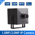 1.0MP 2MP HD Mini IP Camera POE 720P 1080P Video Super Mini CCTV Camera 43x43mm Low Illumination ONVIF P2P 3.6mm Lens