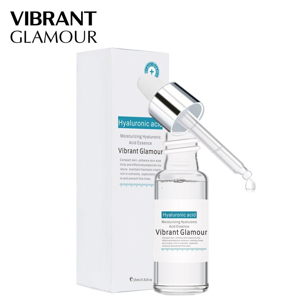 VIBRANT GLAMOUR Hyaluronic Acid Shrink Pore Face Serum Moisturizing Whitening Essence Face Cream Anti-Aging Dry Skin Care New 4