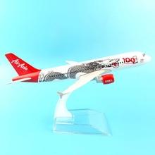 JASON TUTU 16cm avion modèle avion modèle Air Asia Airbus 320 avion modèle 1:400 métal moulé sous pression avions avion jouet cadeau