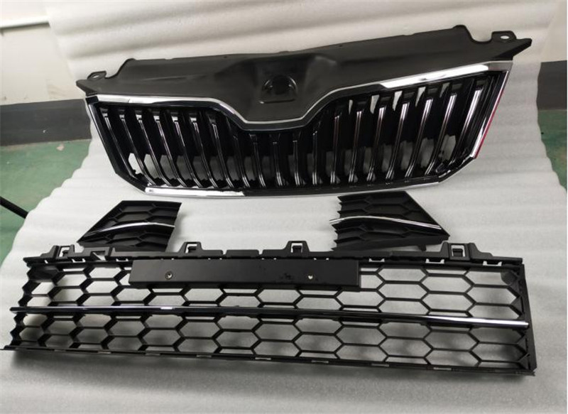 ABS Original authentic car Front Grille Around Trim Racing Grills Trim for Skoda Superb 2016 2017 2018 Car styling
