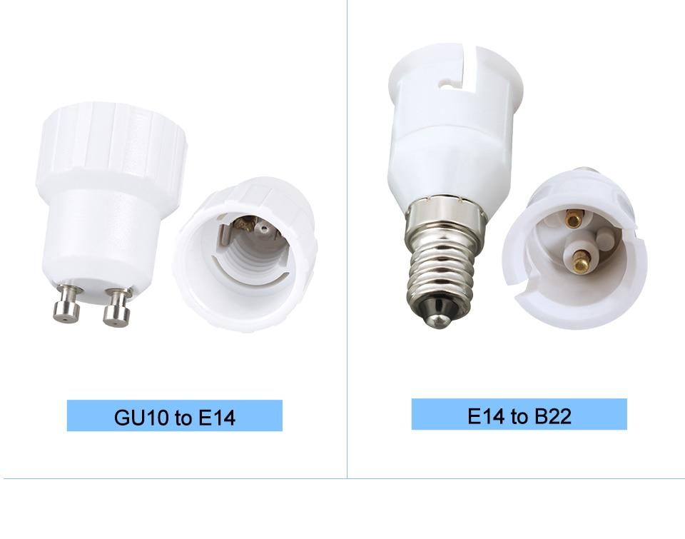 lamp holder base E27 to E14 B22 (10)