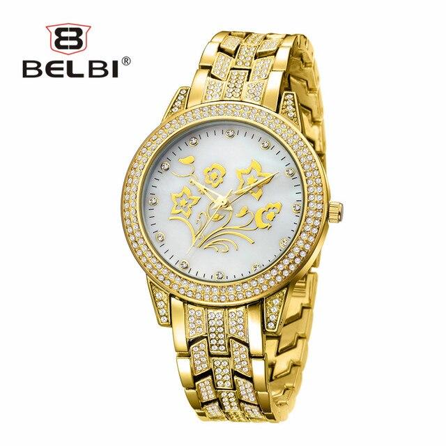 BELBI Jewelry Ladies Watches Top Luxury Elegant Diamond Women Wristwatches Waterproof Japan Quartz Movement China Watch Brand
