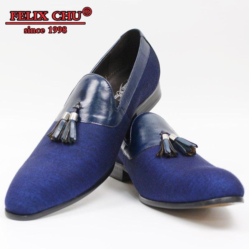 Ayakk.'ten Resmi Ayakkabılar'de 2019 İlkbahar Sonbahar Moda Erkek Kot Deri Püskül loafer ayakkabılar Üzerinde Kayma Ziyafet Parti Elbise loafer ayakkabılar Mavi Boyutu 39 46'da  Grup 1