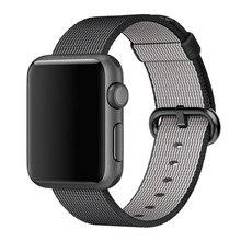 Sport tissé en nylon de courroie de bande pour apple watch 42mm 38mm poignet braclet ceinture tissu de nylon de type bracelet pour iwatch 2/1/édition