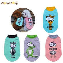 New Fashion Cotton Cartoon Big Eyes Dog Pet Vest Clothes