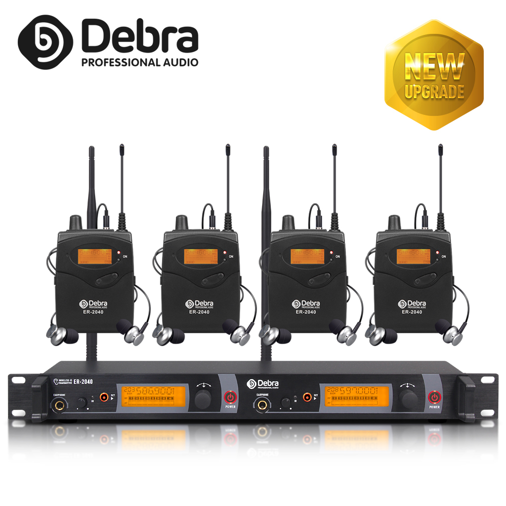 New Upgrade Best Sound Quality!!! ER-2040 Professional UHF In Ear Monitor System For Stage Performance Singer