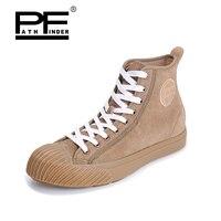 Pathfinder Для Мужчин's вулканическая обувь Для мужчин кожи Стиль Повседневная Ретро удобная обувь на плоской подошве дышащие мужские Calzado Hombre