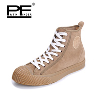 Pathfinder Men's Vulcanize Shoes Men leather High Style casual Retro Comfortable Flat Shoes Breathable Male Calzado Hombre