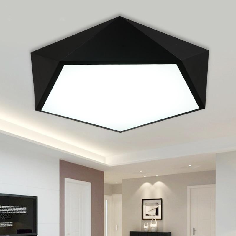 Modern Led Ceiling Lights AC 90 260V Geometry Shape Remote Control Lustre Lumiere Plafond Lamp Luminaria De Teto Abajur Lampen