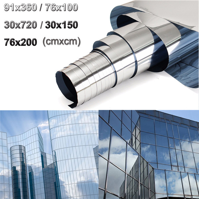 Mirror Window Film One Way Silver 5 Tinting Reflective Privacy Tint 36 X 12  Silver Polyethylene