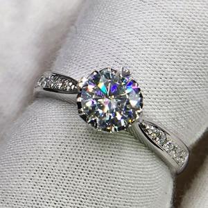 Image 4 - 925 sterling zilver 1ct 2ct 3ct Ronde Briljant Geslepen Ring Diamant Moissanite hartvormige ring Engagement sieraden Anniversary