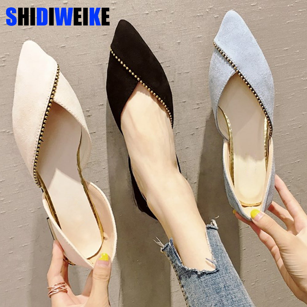 2019 Spring New Fashion Woman Flats Shoes Female Ballet