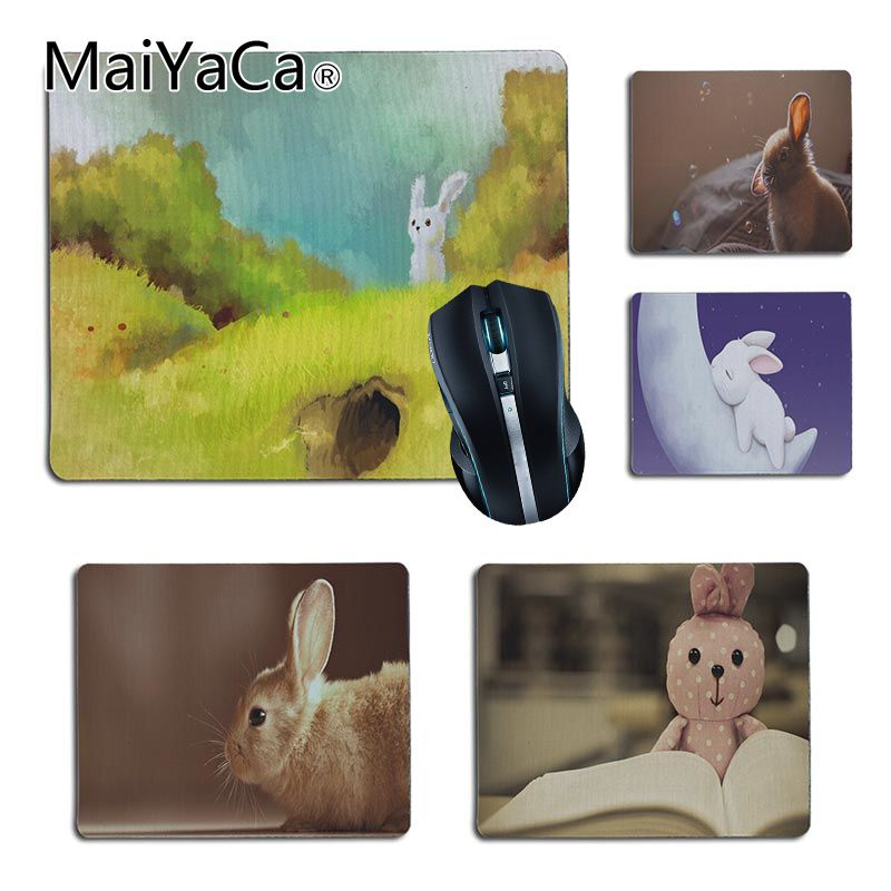 MaiYaCa Cool New art hare Customized laptop Gaming small mouse pad Size for 180x220x2mm and 250x290x2mm Small Mousepad