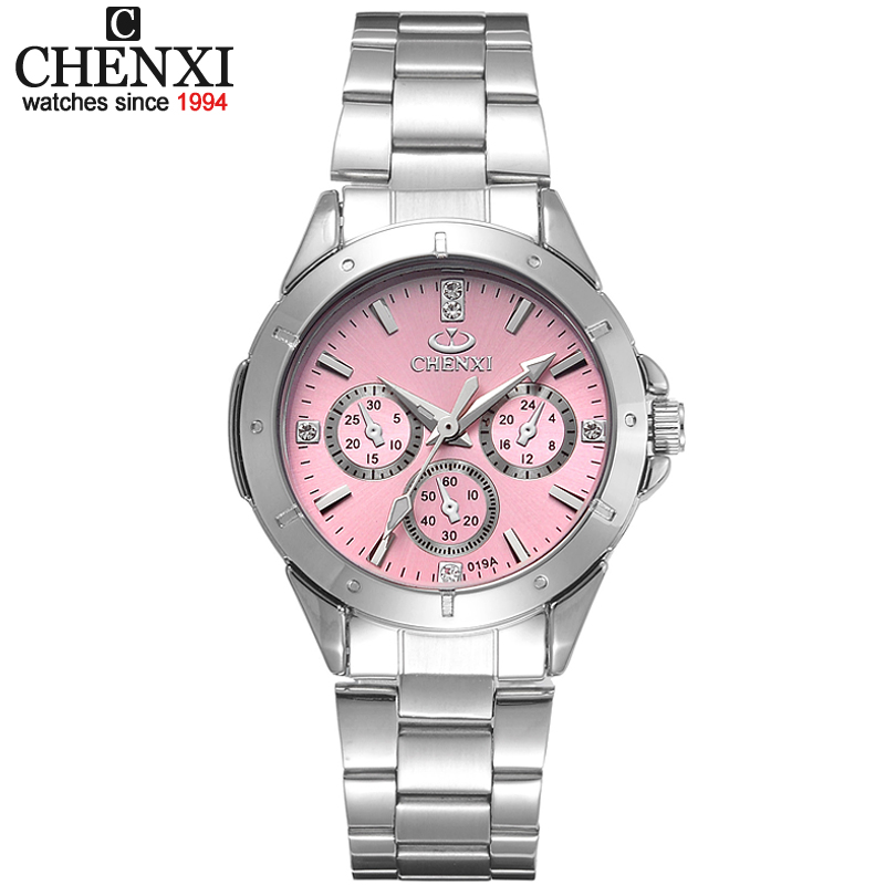CHENXI Frauen Mode Uhren Damen Quarzuhr frauen Elegante Kleid Edelstahl Armbanduhren Mädchen Uhr Uhren Mujer