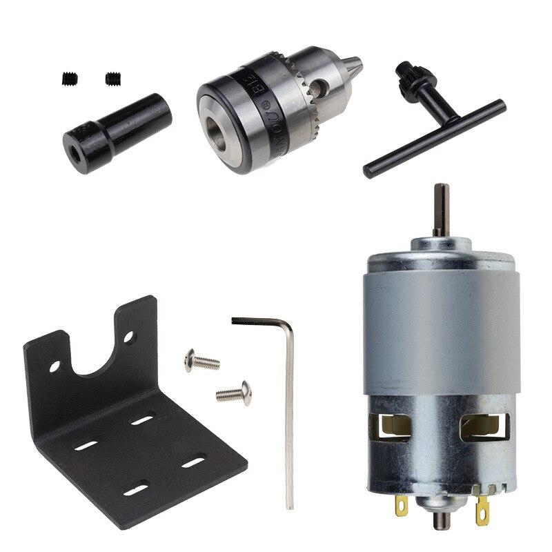 Pcb Wood Plastic Cardboard Hole Saw High Torque 775 Motor Dc12V - 36V/10000Rpm Mini Hand Drill Press Table Electric Drill B12