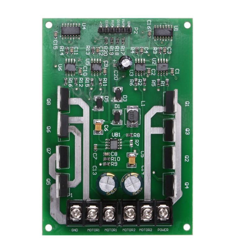Dual Motor Driver Module Board H-bridge DC MOSFET IRF3205 3-36V 10A Peak30A dual motor driver module dc h bridge 3 36v 15a motor driver pwm module circuit board mosfet driver motor driving board for ard