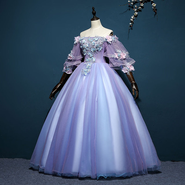 100% real 18th century royal court ruffled cosplay ball gown ...