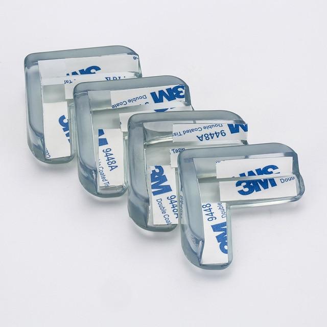 8 piezas Protector de seguridad de silicona para bebés y niños protección de esquina de la Mesa de protección de esquinas anticolisión para niños