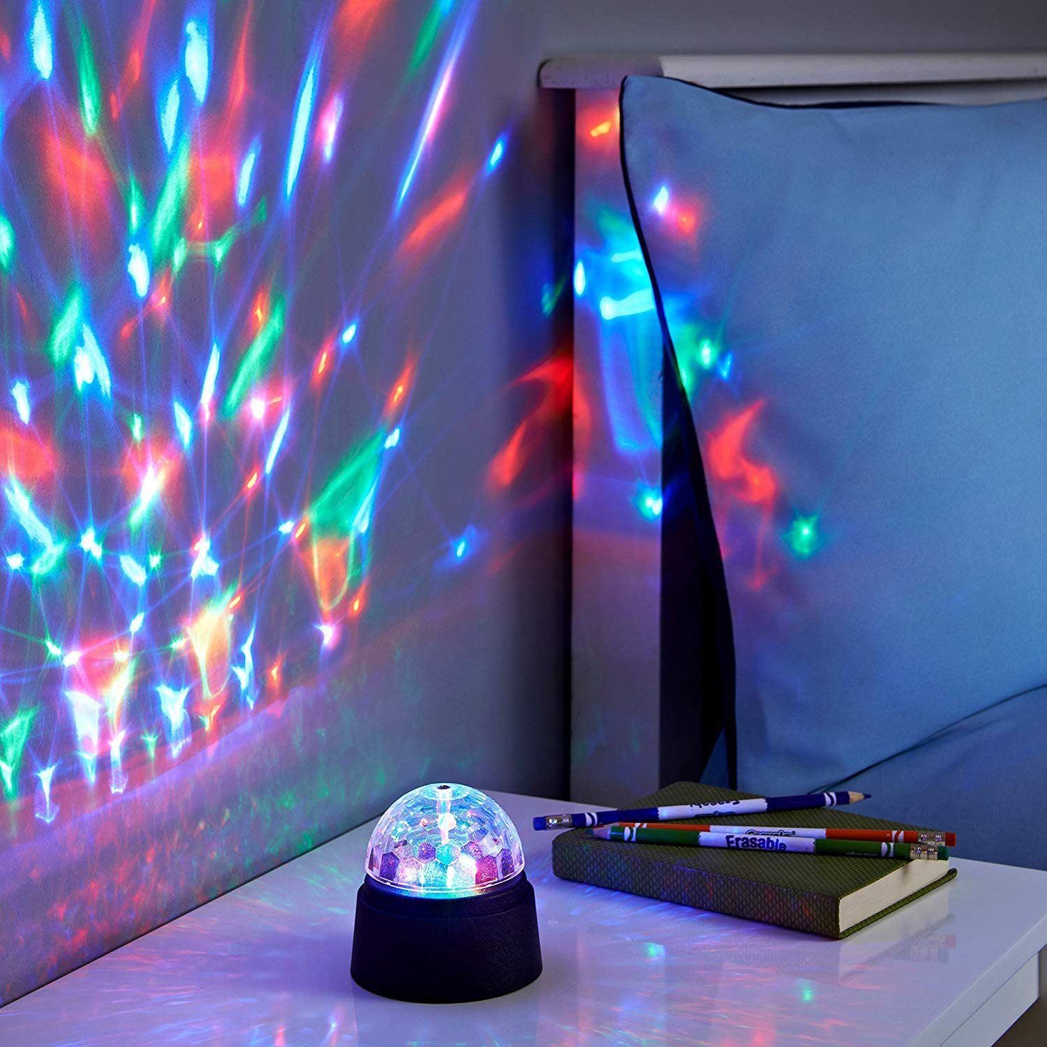 Battery Operated Crystal Starball Mini Magic Ball Led Stage Lighting Effect RGB DJ Light Bar Party LED Disco Light Club