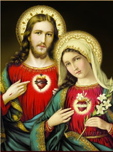 Diamant Diy 5D Diamond Painting Cross Stitch The Father And Virgin Maty Needlework 3D Embroidery Full Decorative