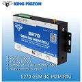 GSM M2M RTU Remote Monitoring Temperature Humidty Alarm System SMS GPRS Communication BTS Access Relay Control King Pigeon S270