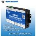 GSM M2M RTU Remoto de Monitoramento de Temperatura Humidty BTS Relé De Controle de Acesso de Comunicação GPRS SMS Sistema de Alarme Rei Pombo S270