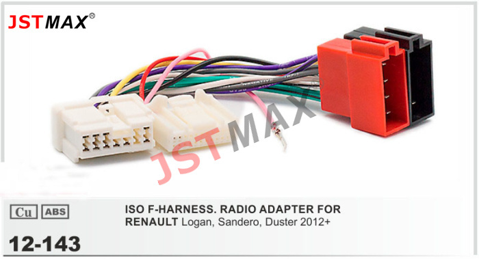 Jstmax Car Dvd Radio Stereo Iso Cable Adapter For Renault