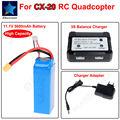 Бесплатная доставка! 11.1 В 5600 мАч Батареи + (3 S) X380 Баланс Зарядное Устройство для Wltoys V303 Cheerson CX-20