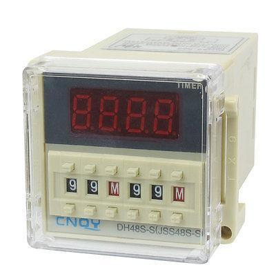 DH48S-S2Z LCD Display Time Timer Delay Relay 8-Pin DPDT 0.1S-99H AC 48V