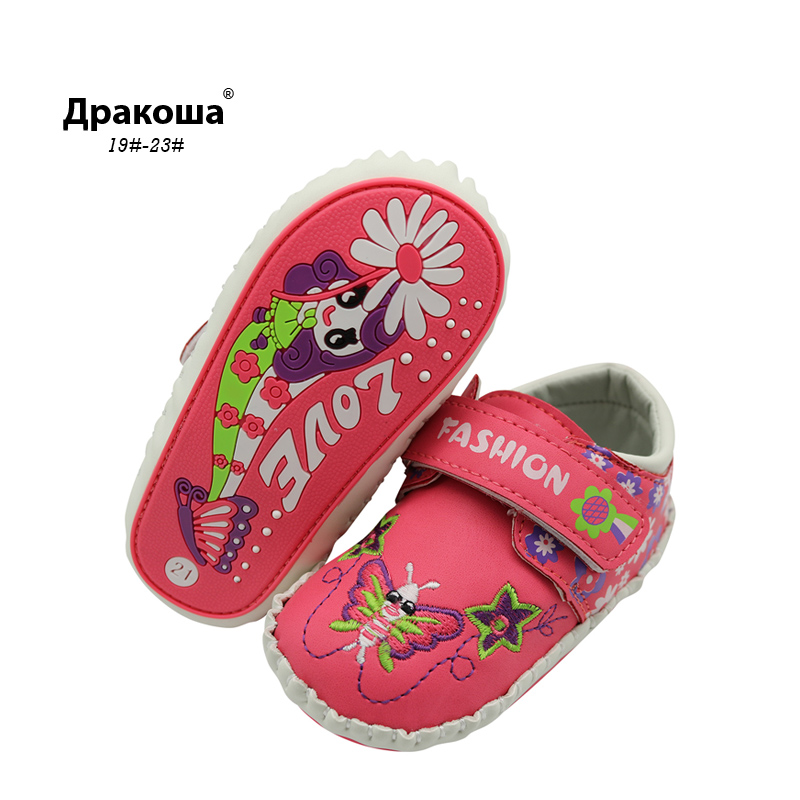 Apakowa Butterfly Pattern Leather Baby Moccasin Print Soft Soled Newborn Baby Girl Infant Shoes Boy Toddler First Walkers Gifts