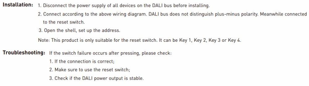 LTECH LT 424 SC;DALI Scene Push Switch DALI Scene Control Push ...