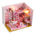 Kittys Cute DIY Model Building Kits Cottage Children Handmade Creative Toy Model Home Girls Birthday Gift of Puzzle