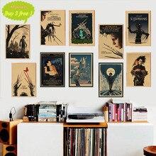 Película clásica Edward Scissorhands poster kraft papel vintage Poster bar decoración del hogar pegatina de pared