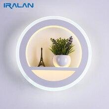 Современный светодиодный настенный светильник 30 Вт Современная Гостиная простая прикроватная тумбочка для спальни домашние настенные лампы акриловая прикроватная тумбочка домашнее освещение