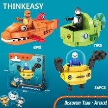 ThinkEasy 3 Styles Octonauts Education Children Dolls Bruticus Toys Action Figures Block Toys For Kids Birthday Gifts
