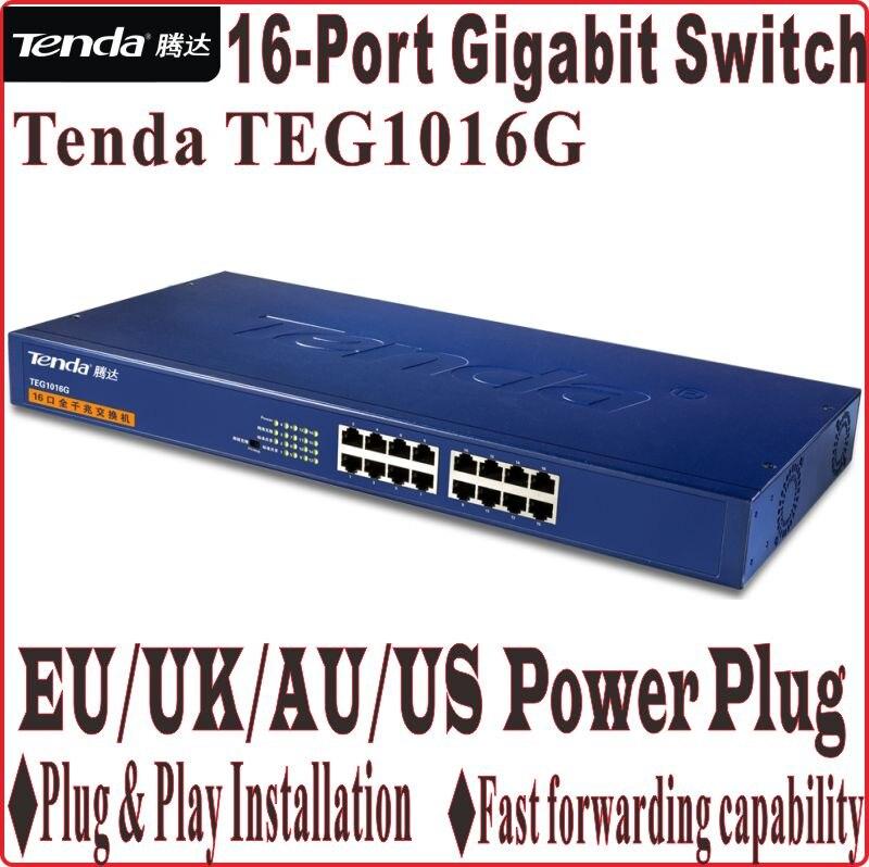 Network Switches Plug&Play Gigabit Speed Tenda TEG1016G 10/100/1000Mbps 16-port Gigabit switch 32G switch capacity Free Shipping
