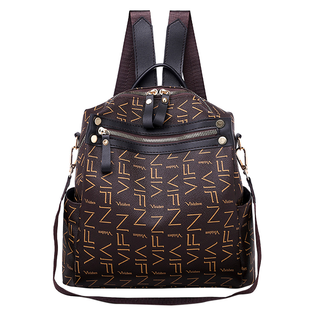 New fashion lady bag anti-theft women backpack 2019 hight quality Print backpacks female large capacity women's bag dropshipping(China)