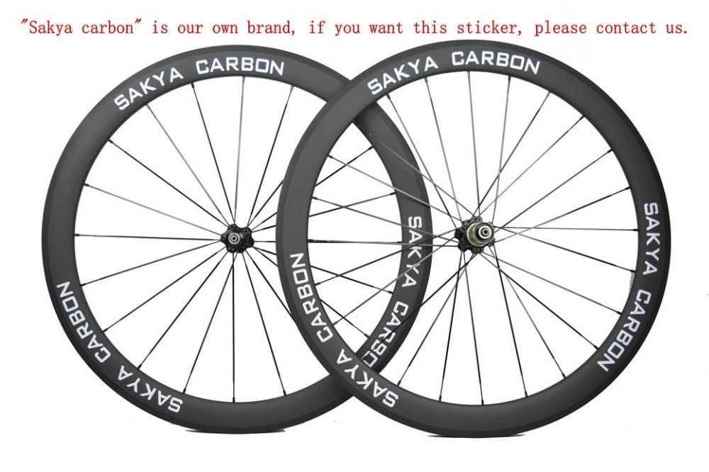 Roues en carbone Ultra légères 700C vélo 24/30/35/38/45/50/55/60/75/88mm roues tubulaires en carbone roues de vélo de route