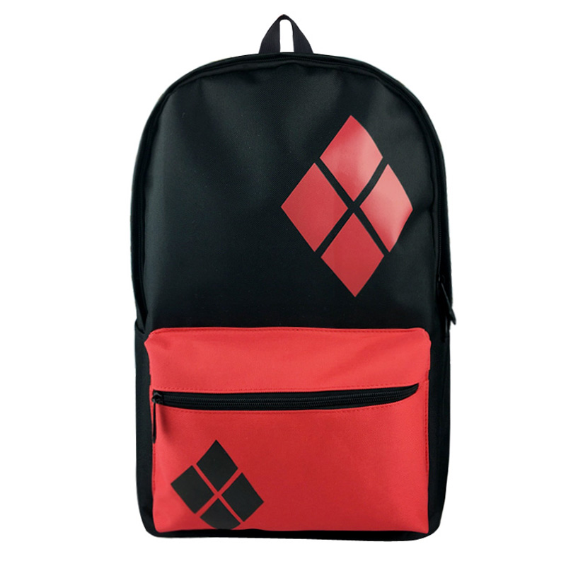 Anime Suicide Squad Bacjpack Canvsa Harley Quiun Print Students Boy Girl School Bags mochila Gift for Men Women Travel Backpacks