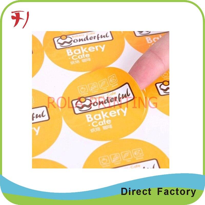 ⑥Personalizada de alta calidad laminado brillante etiqueta adhesiva ...