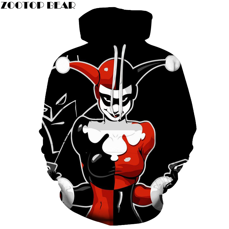harley quinn hoodies joker hoodie badass 3d men women. Black Bedroom Furniture Sets. Home Design Ideas