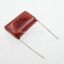 10 шт./лот 400V155J 1.5 мкФ шаг 20 мм 400 В 155 1500nf CBB Полипропиленовых пленочных конденсаторов