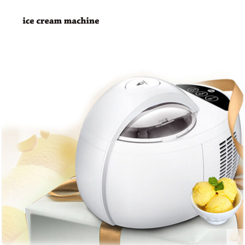 Home ice cream machine 1L automatic large capacity DIY fruit ice cream machine double insulation ice cream maker ICM-1000A free shiping fried ice cream machine 75 35cm big pan with 5 buckets fried ice machine r22 ice pan machine ice cream machine