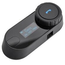 2016 Nueva Versión Actualizada!! 800 M BT Bluetooth Del Casco de La Motocicleta Auricular Bluetooth con pantalla LCD + Radio FM
