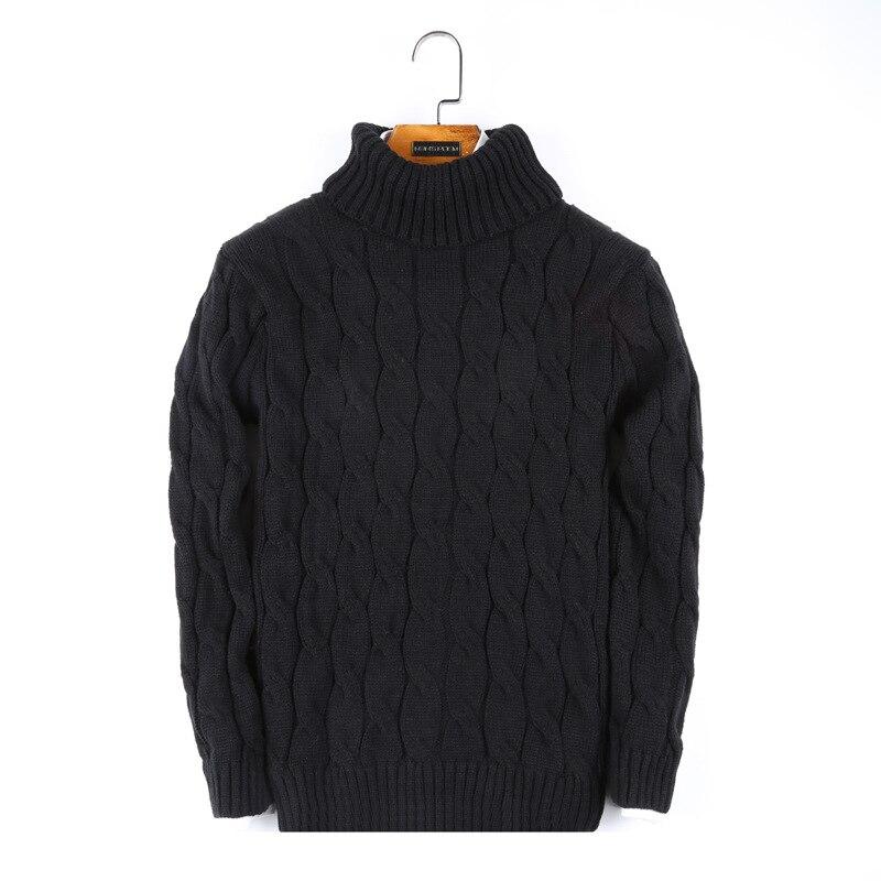 otoño invierno nuevo suéter de cuello alto suéter masculino camisa - Ropa de hombre - foto 6
