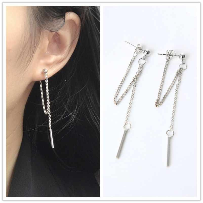 EK126 Korean Fashion Jewelry Earrings Tassel Retro Long Drop Earrings Chain Metal Earrings Wholesale Statement Earrings Brincos