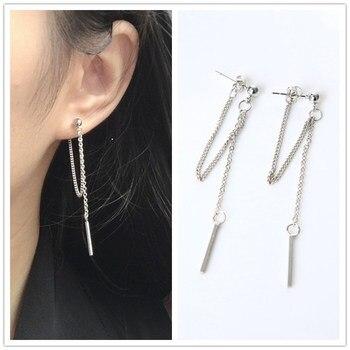 Korean Fashion Jewelry Earrings Tassel Retro Long Drop Chain Metal Wholesale Statement Brincos